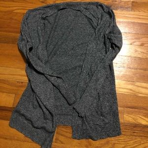 Gray heathered cardigan